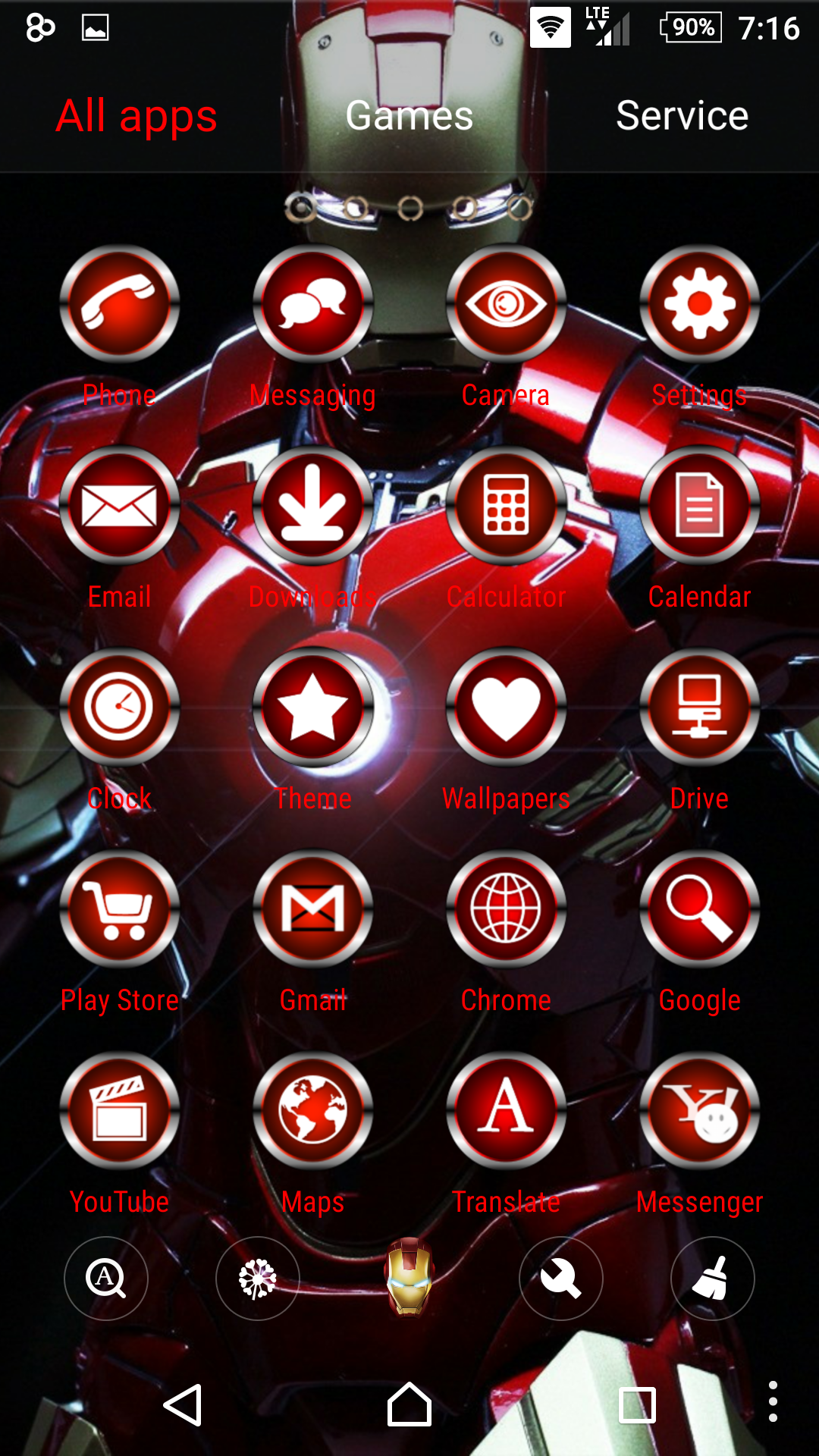 Iron Man SkinPack for Android released