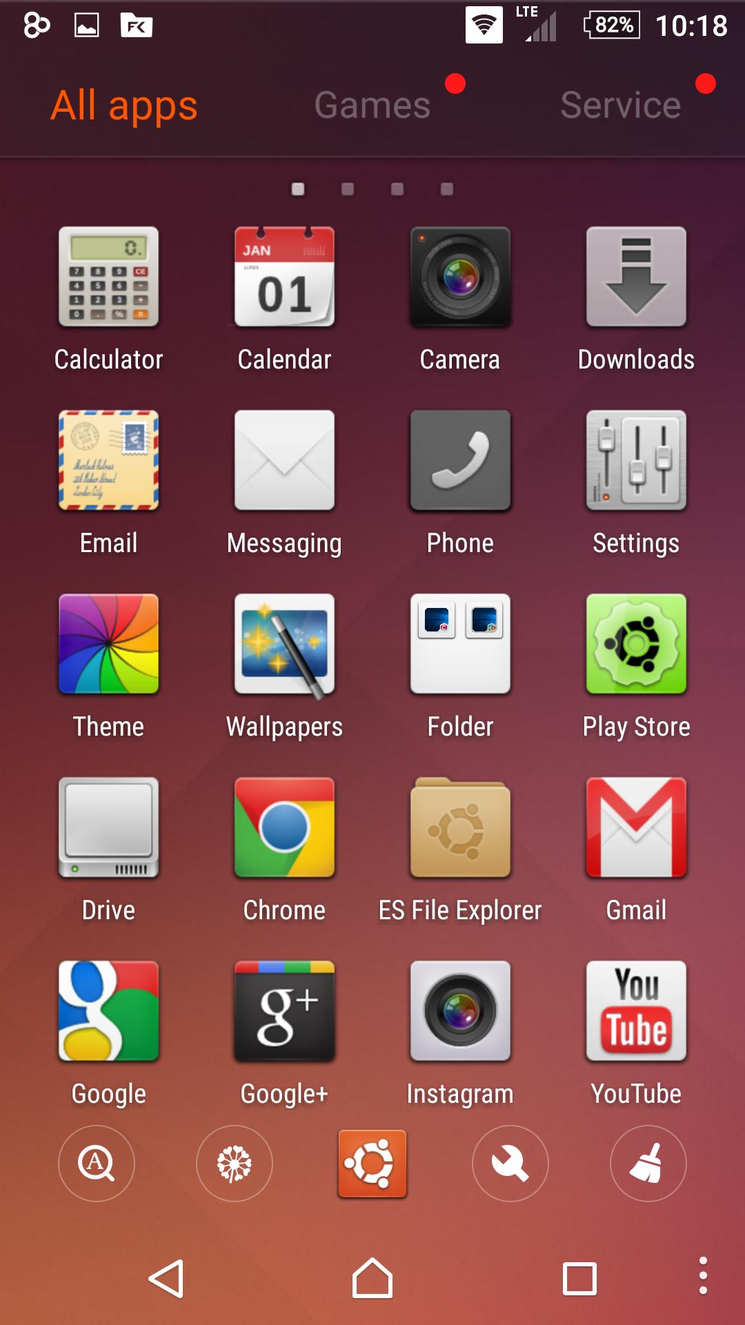 Ubuntu SkinPack for Android released