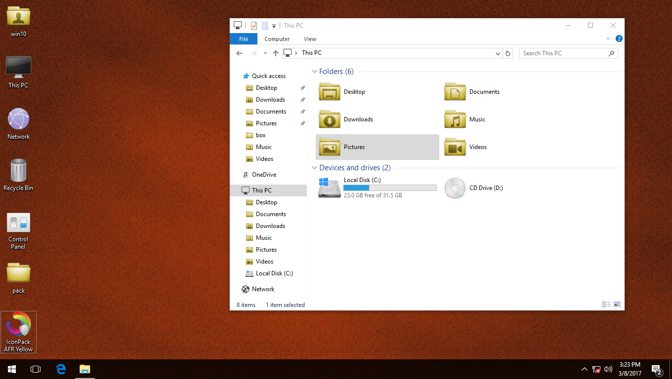 AFR Yellow IconPack for Win7/8/8.1/10