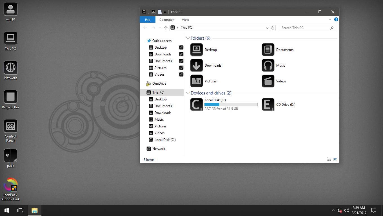 Albook Dark IconPack for Win7/8/8.1/10