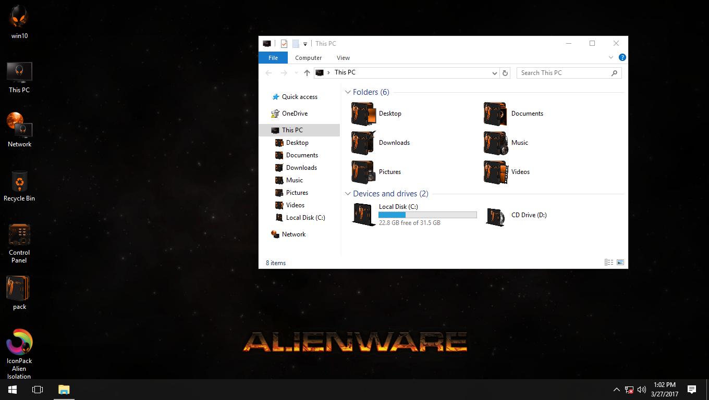 Alien Isolation Orange IconPack for Win7/8/8.1/10