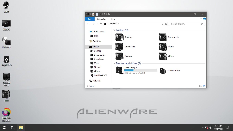Alien Isolation White IconPack for Win7/8/8.1/10