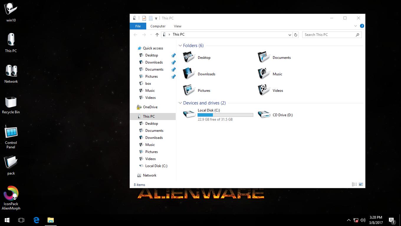 AlienMorph IconPack for Win7/8/8.1/10
