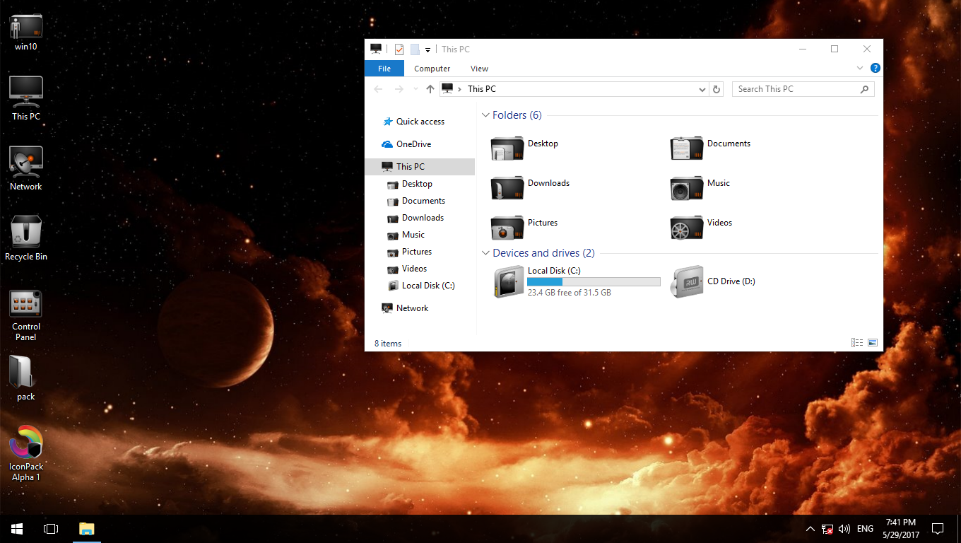 Alpha 1 IconPack for Win7/8/8.1/10