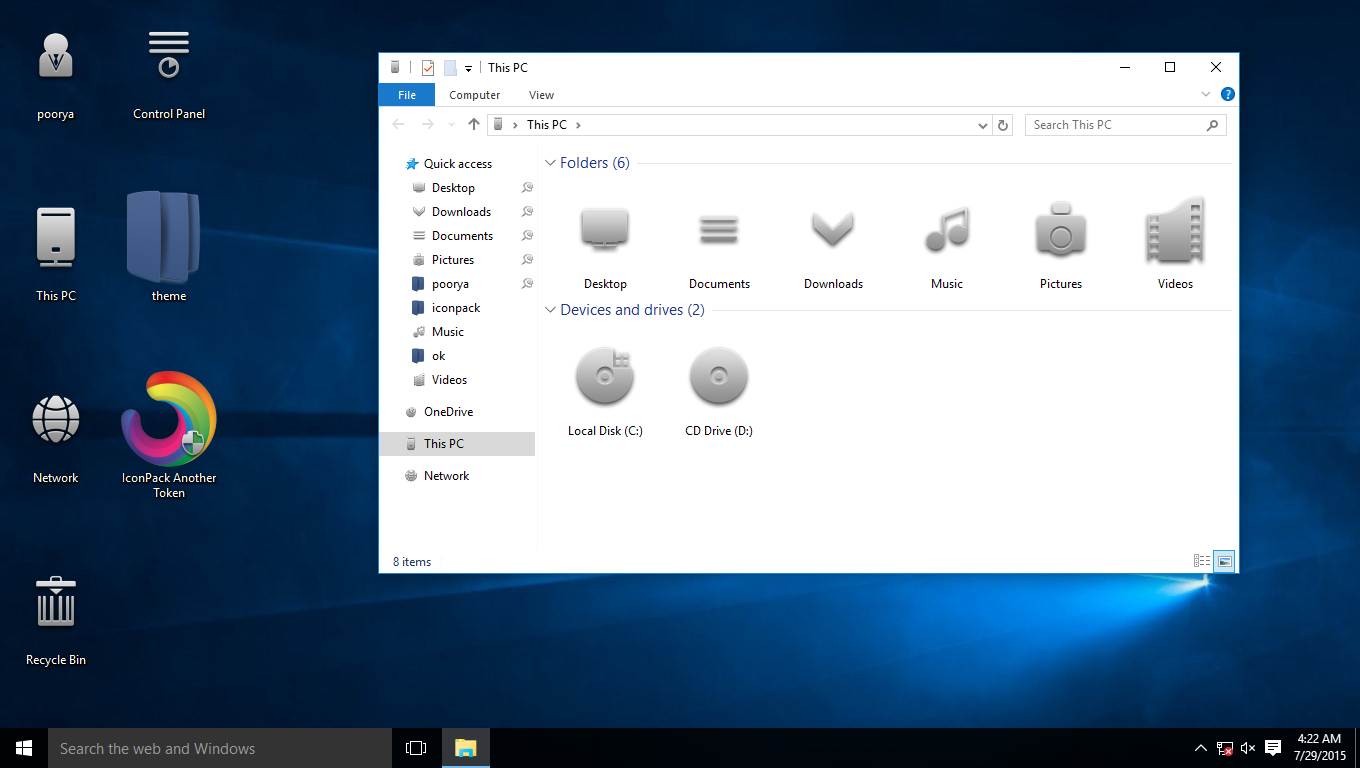 Another Token IconPack for Win7/8/8.1/10