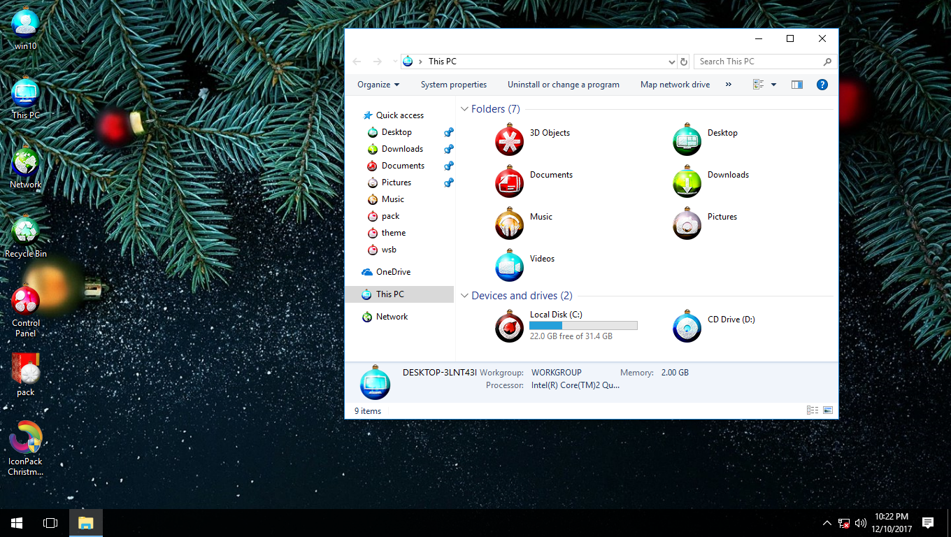 Christmas Balls IconPack for Win7/8/8.1/10