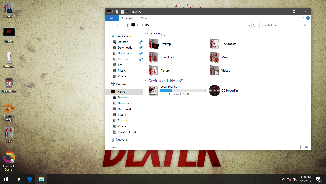 Dexter IconPack for Win7/8/8.1/10