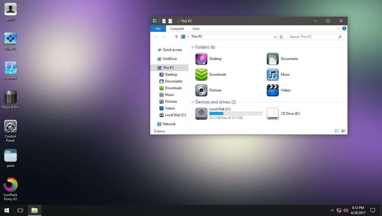 FlatScape IconPack for Win7/8/8.1/10
