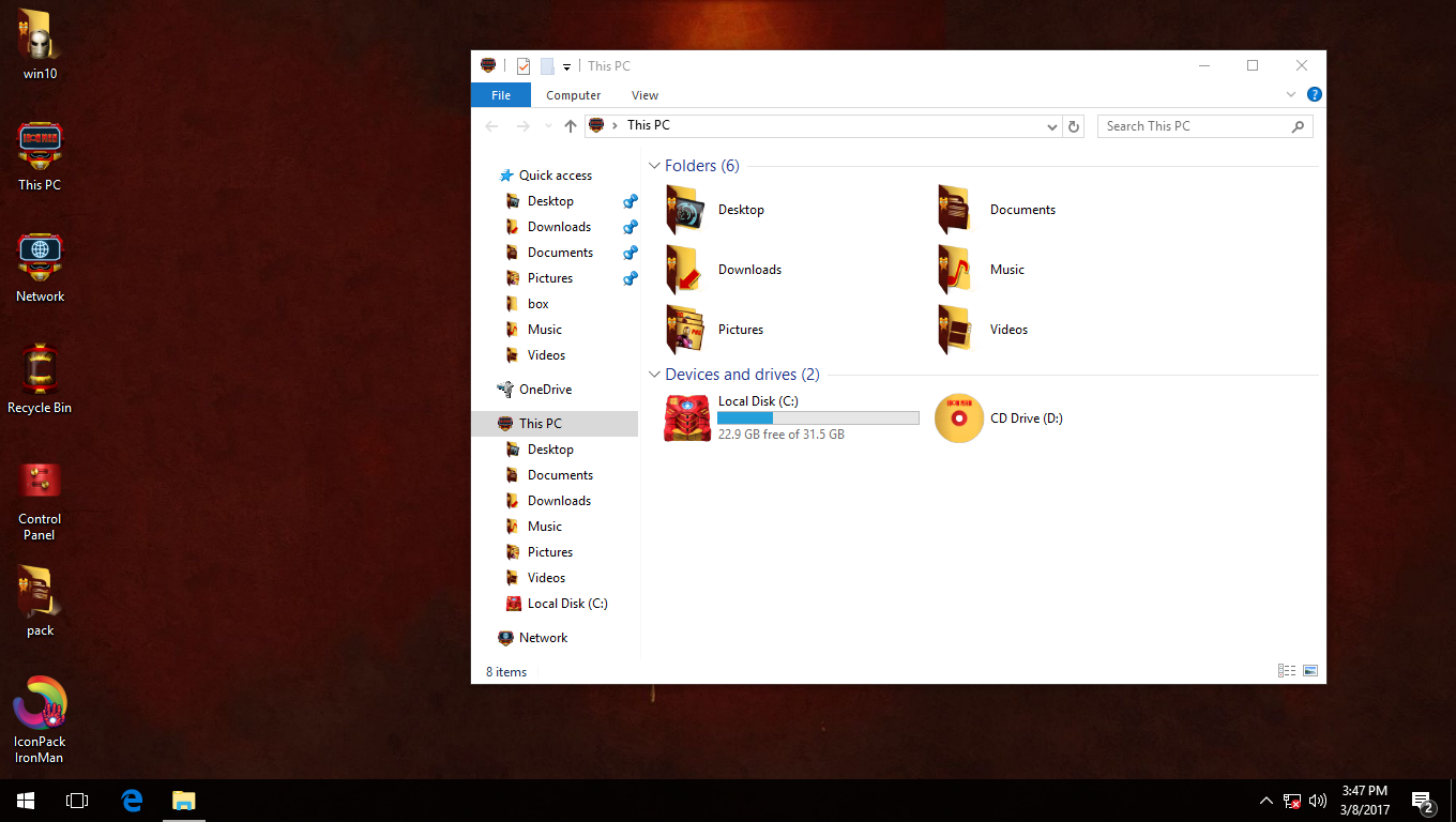 IronMan IconPack for Win7/8/8.1/10