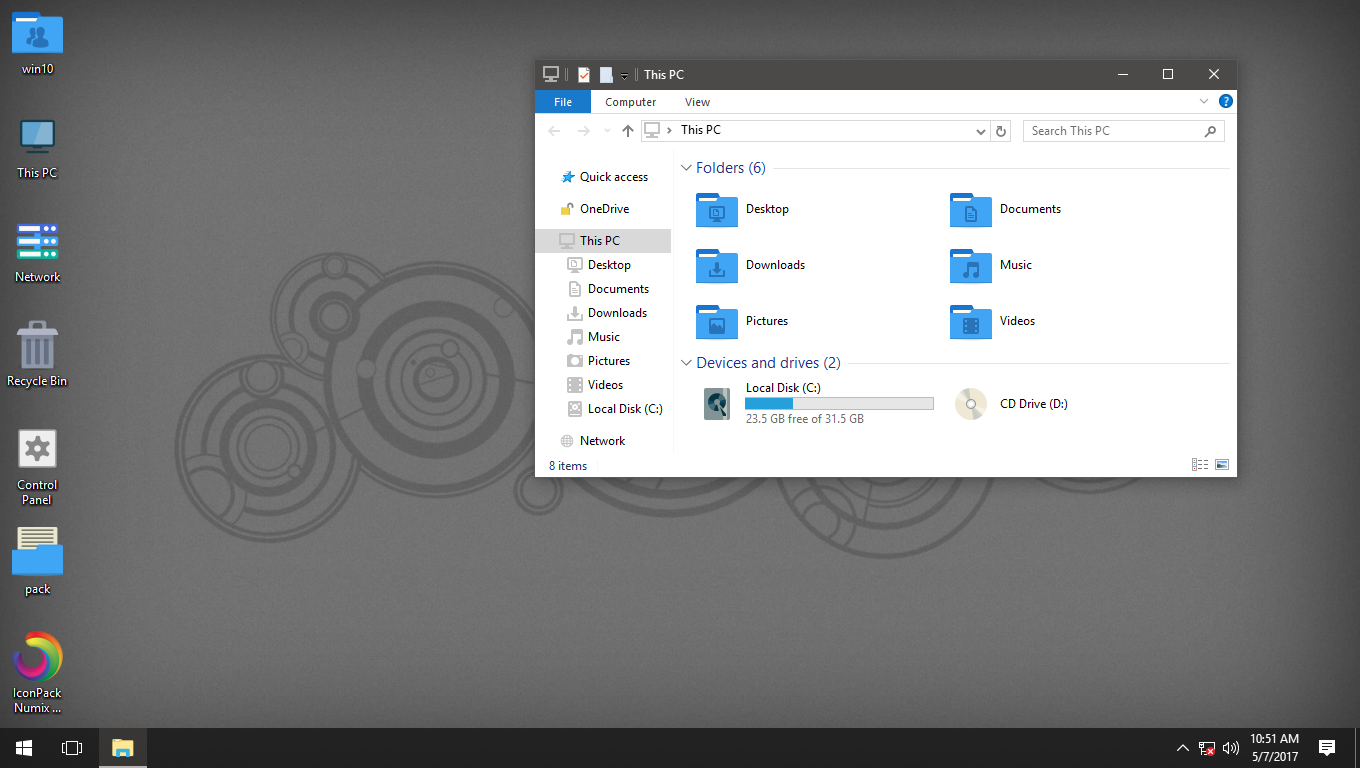 Numix Windows Blue IconPack for Win7/8/8.1/10