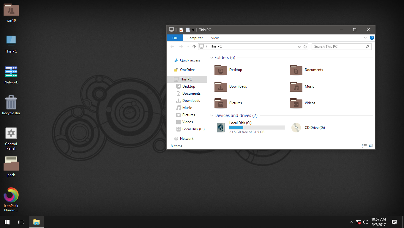 Numix Windows Brown IconPack for Win7/8/8.1/10