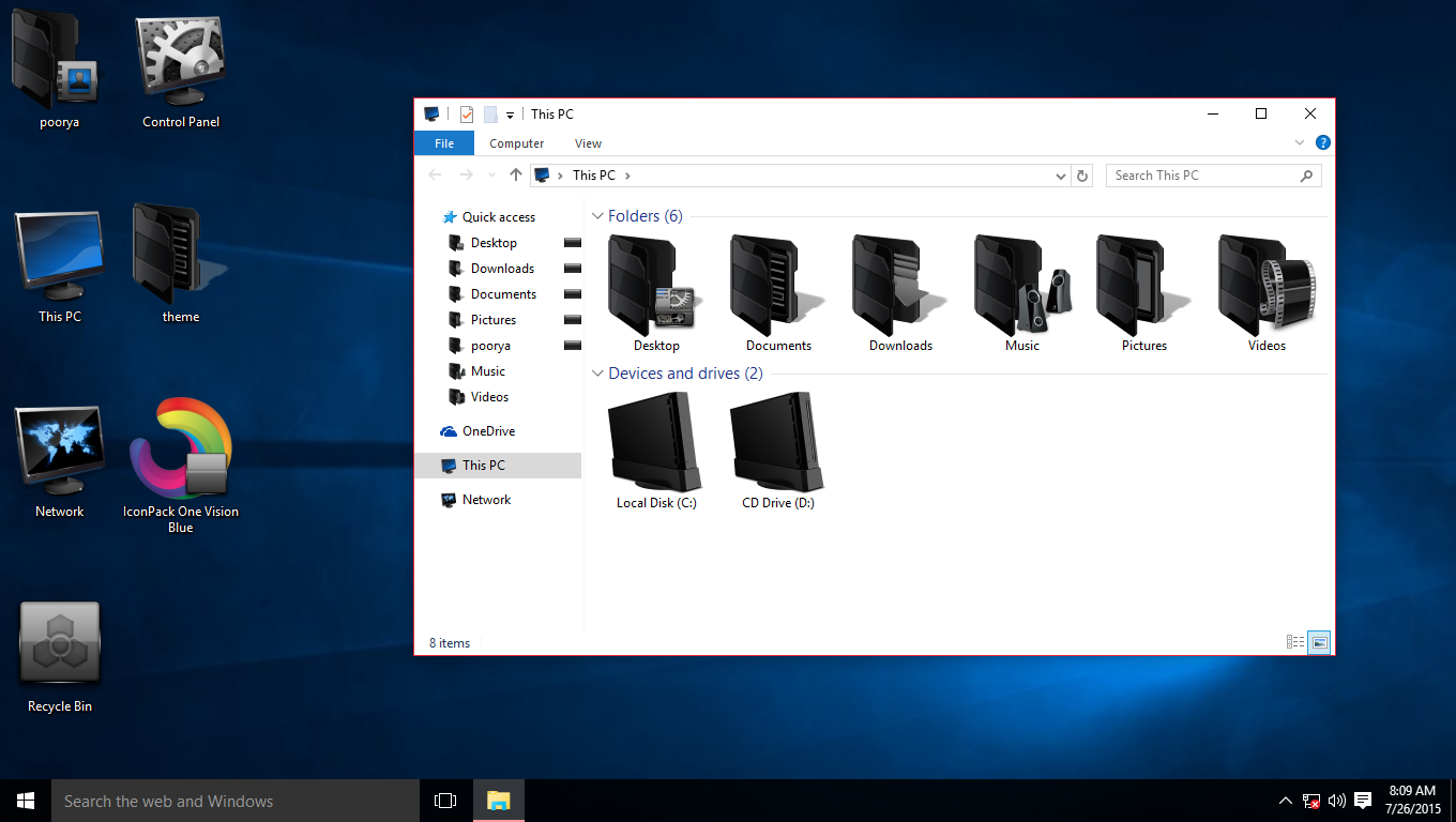 Blade Blue IconPack for Win7/8/8.1/10