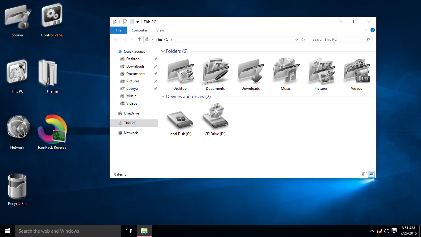 Cosmos IconPack for Win7/8/8.1/10