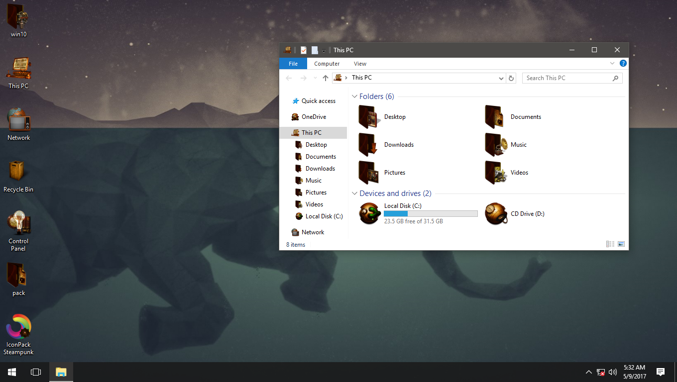 Steampunk IconPack for Win7/8/8.1/10