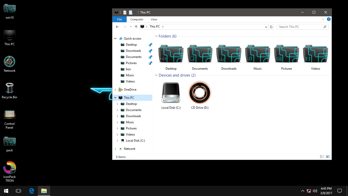 TRON IconPack for Win7/8/8.1/10