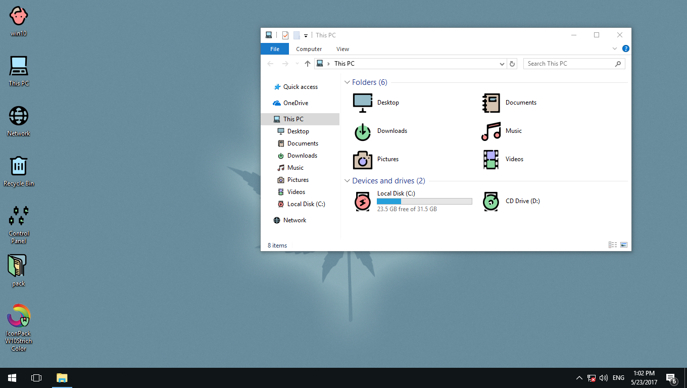 W10Strich Color IconPack for Win7/8/8.1/10