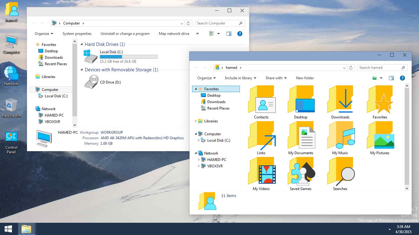 Windows 10 Skinpack 6 0 For Win7 8 1 Skin Pack Theme For Windows 10