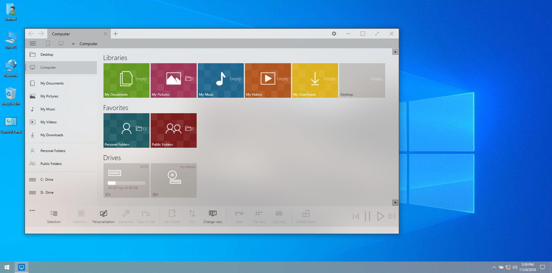 macOS Mojave SkinPack for Windows 7\8.1\10 RS5