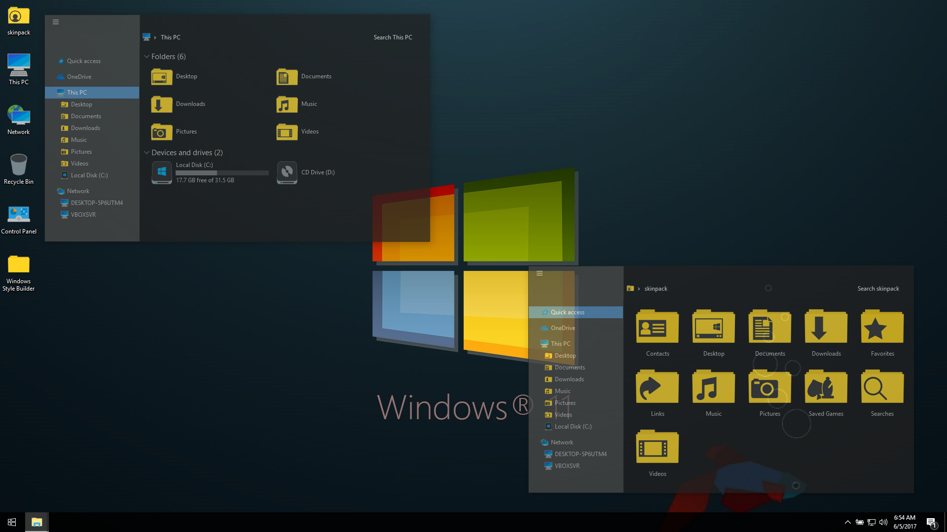 Windows 11 Dark SkinPack for Win10
