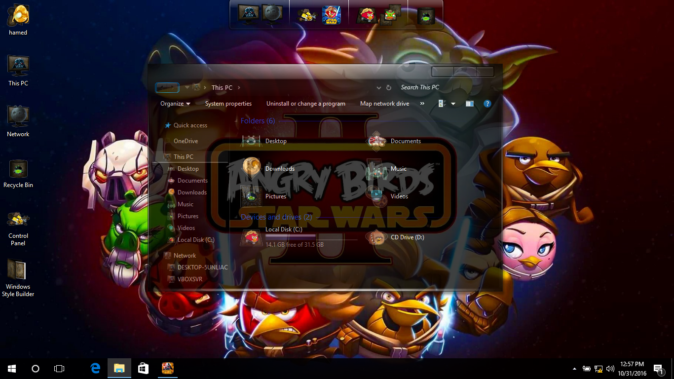Angry Birds Space SkinPack for Win10/7