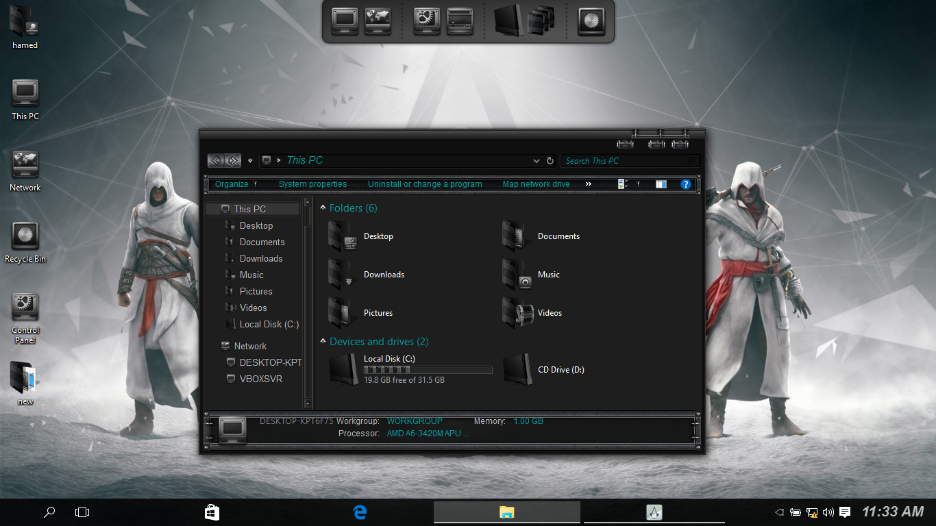 Assassin's Creed SkinPack for Win10 released