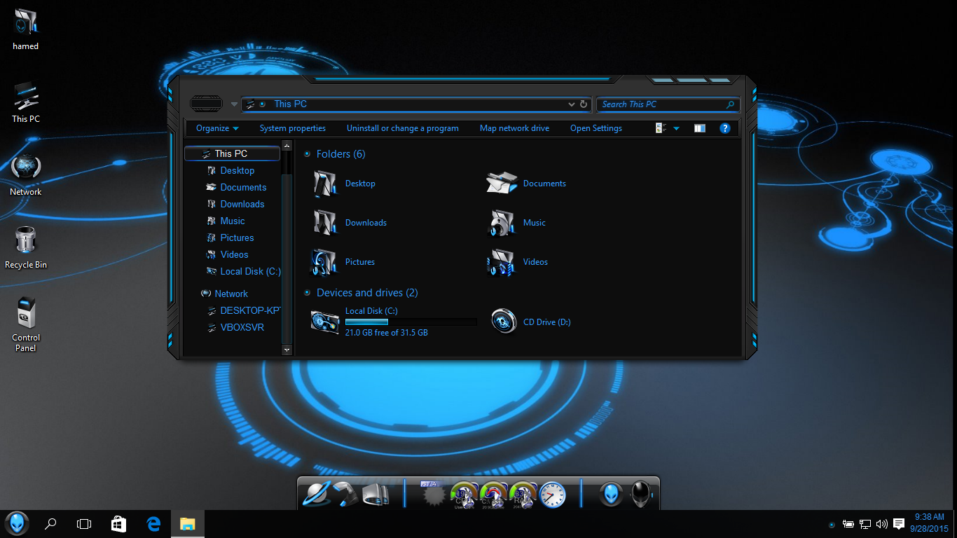 theme pc alienware
