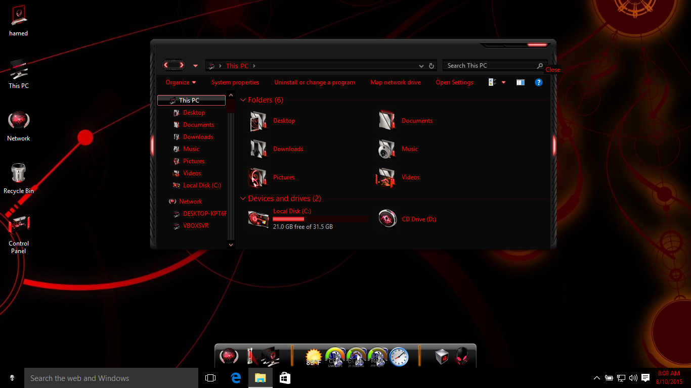 Windows 7 theme alienware skin pack youtube.