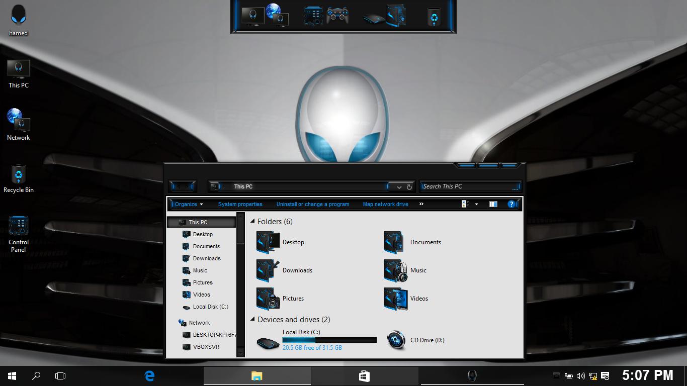 AlienWhite SkinPack for Win7/8.1/10