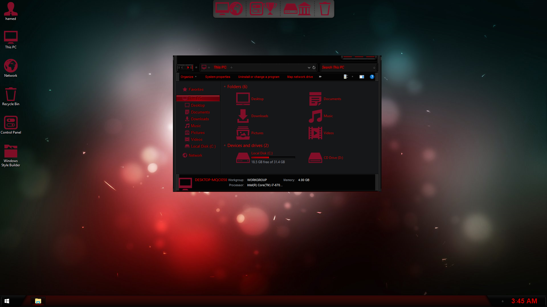 AMD Dark SkinPack for Windows 7\10
