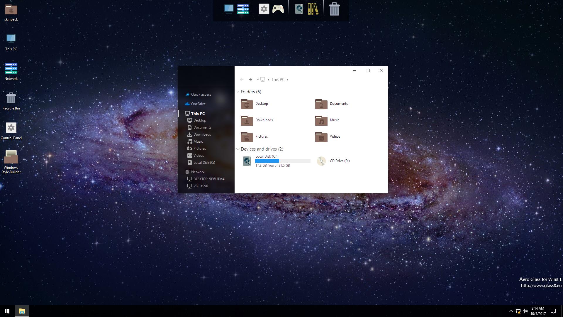 Windows Core OS SkinPack for Windows 10rs2