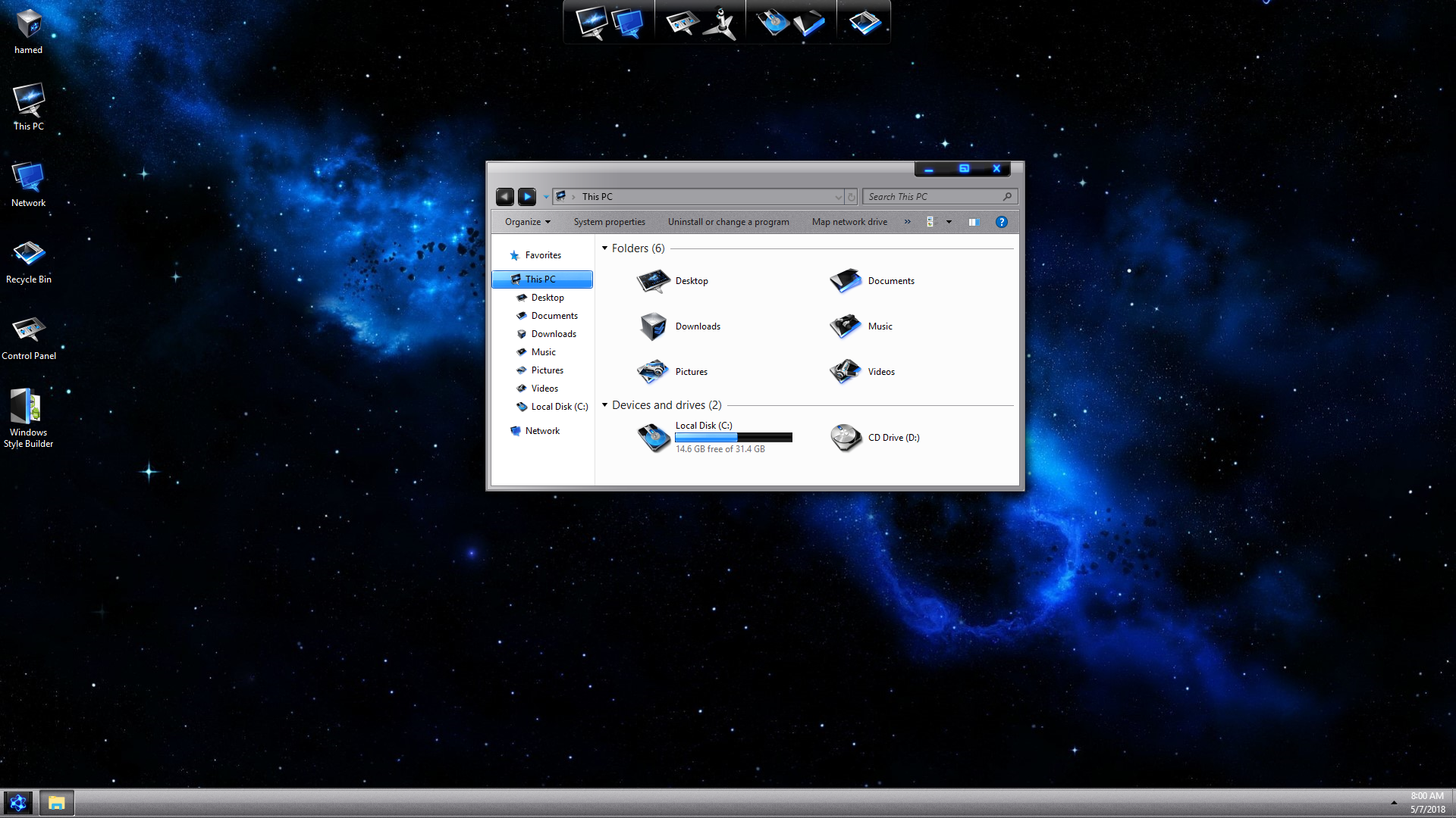 LightMatter Blue SkinPack for Windows 7\10