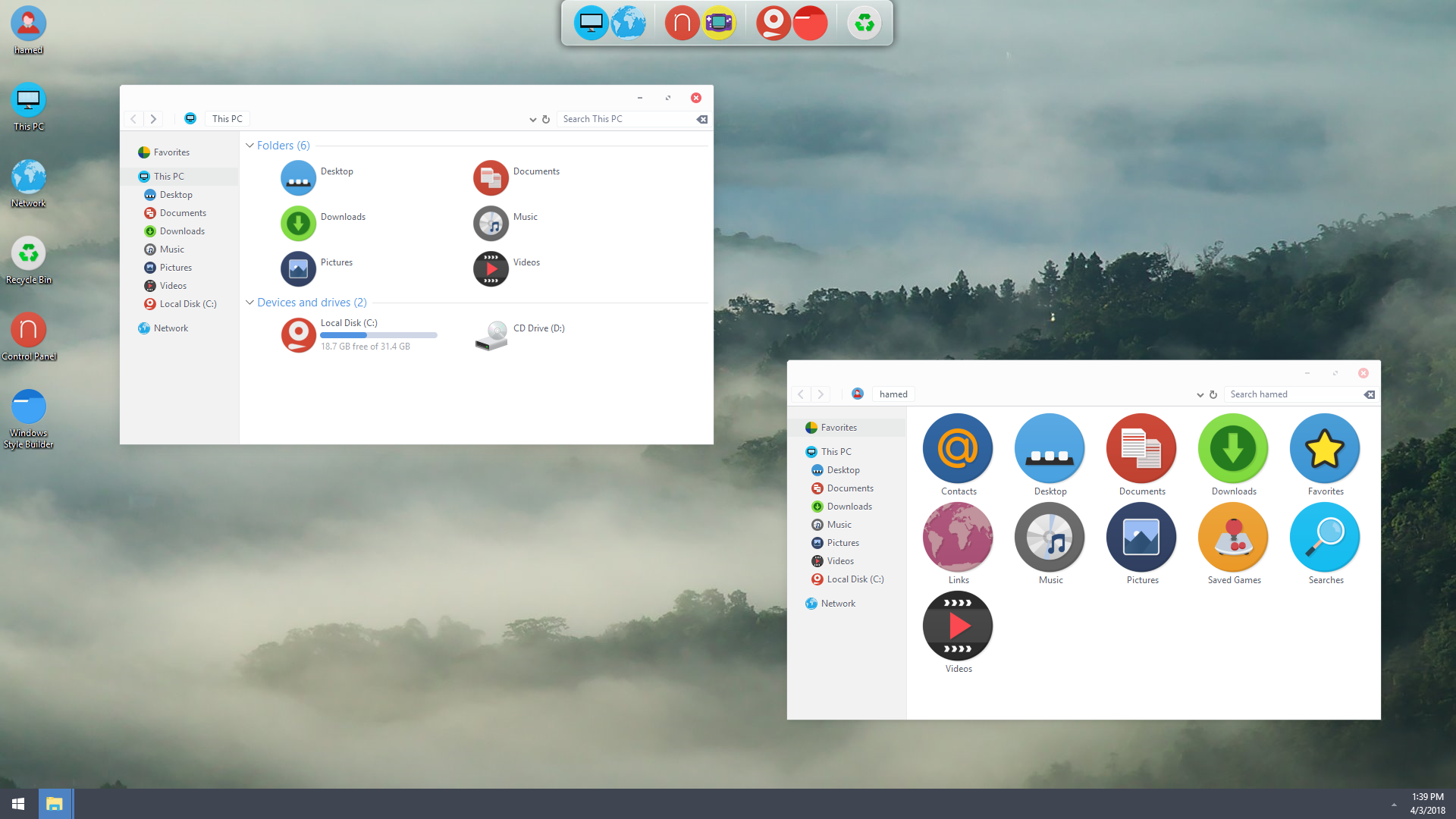 Fuchsia OS SkinPack for Windows 10