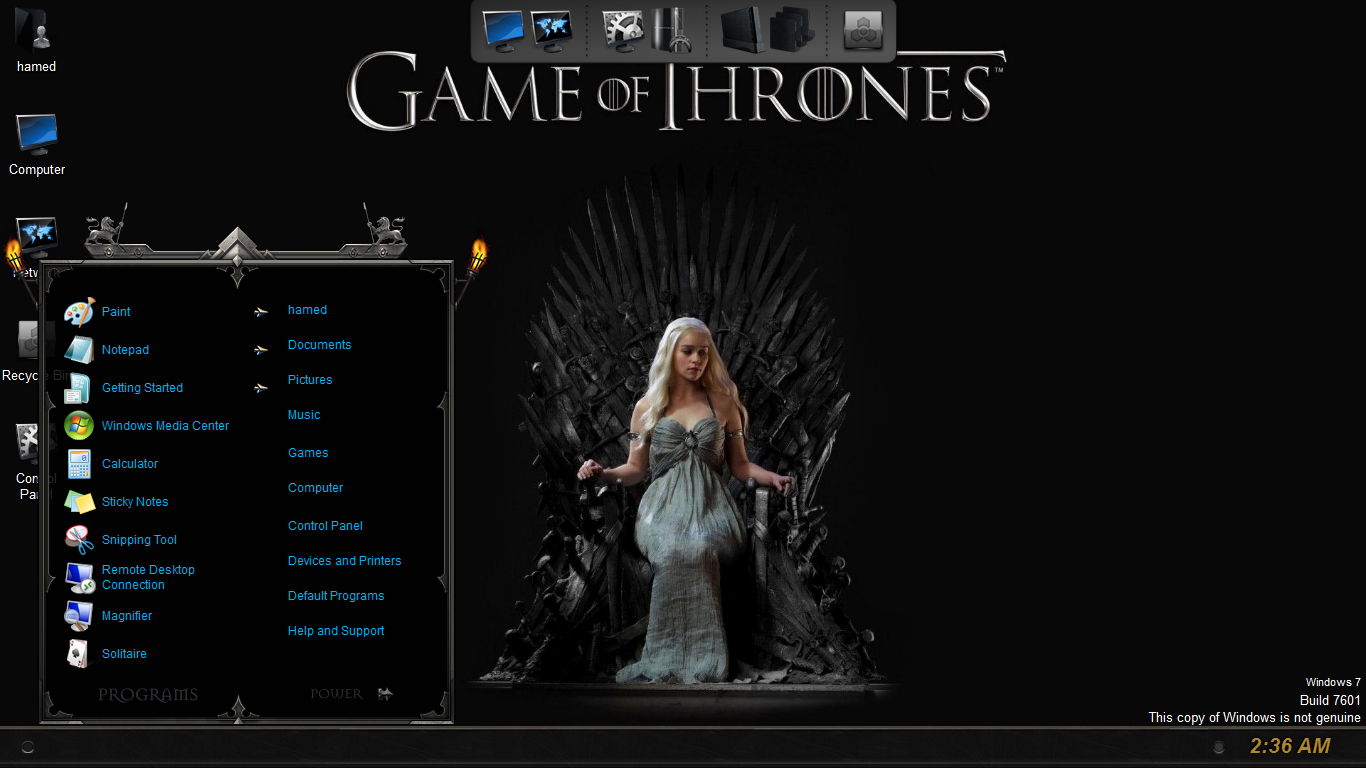Game Of Thrones SkinPack for Win10 released - SkinPack - Customize