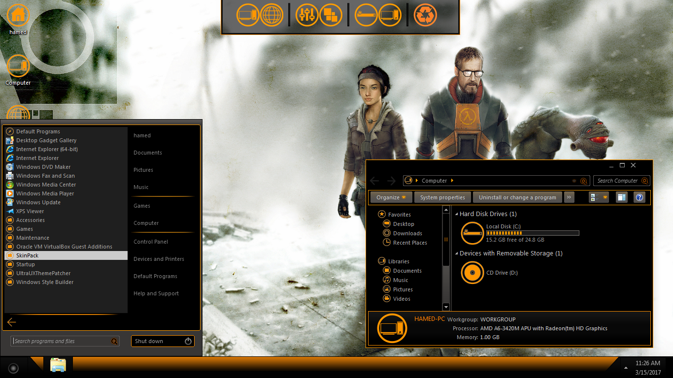 Half Life SkinPack for Win10/8 1/7 - SkinPack - Customize Your