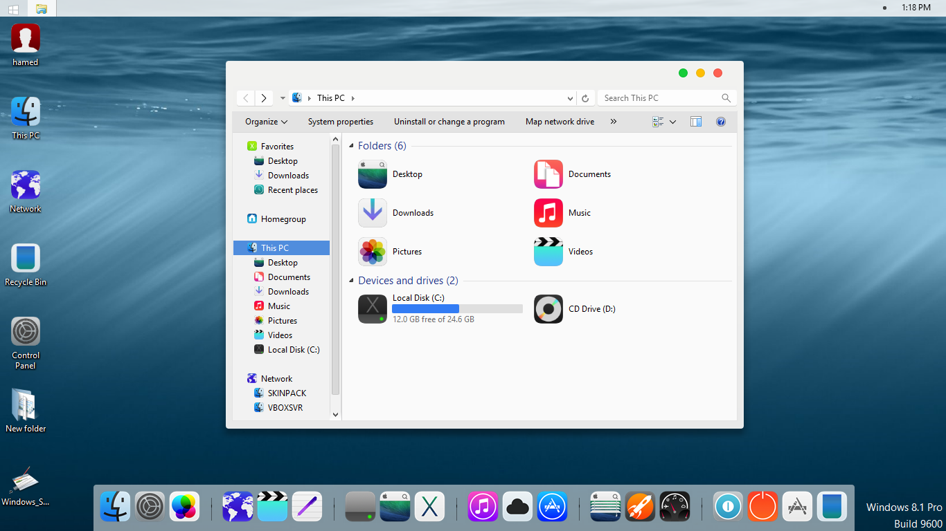 iOS8 SkinPack 2.0 for Win7/8.1