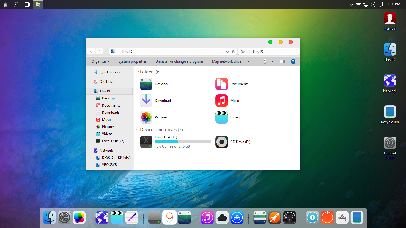 iOS9 SkinPack for Win10 released