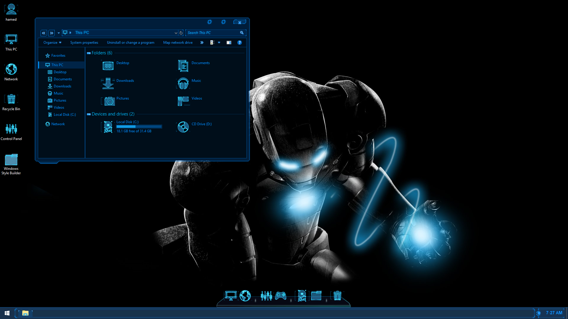 Jarvis SkinPack for Windows 7\8.1\10 RS2 & RS3