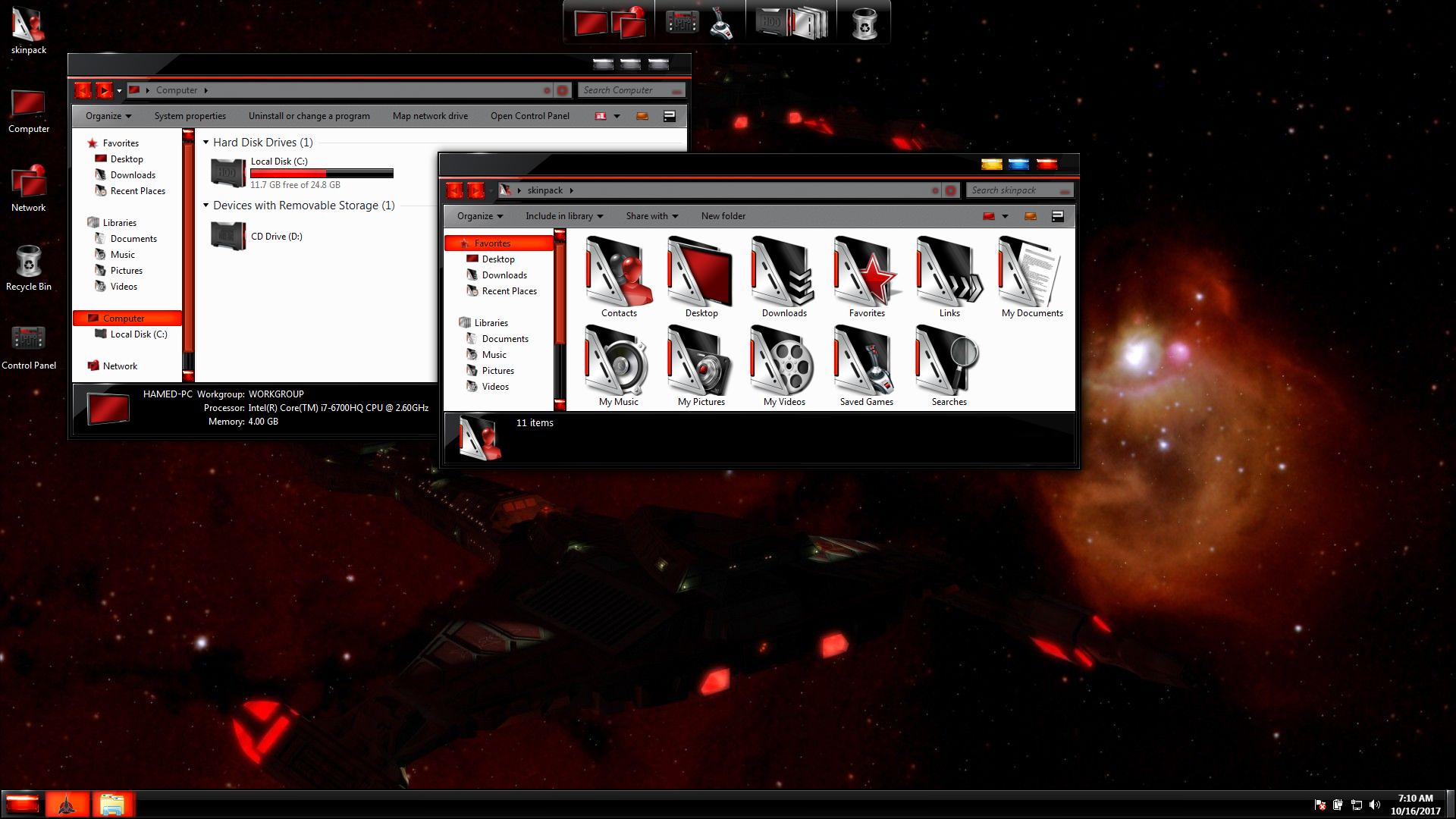 StarTrek Gold SkinPack for Windows 7
