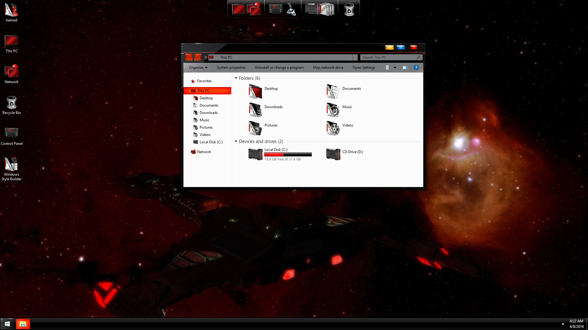 StarTrek Klingon SkinPack for Windows 7\10