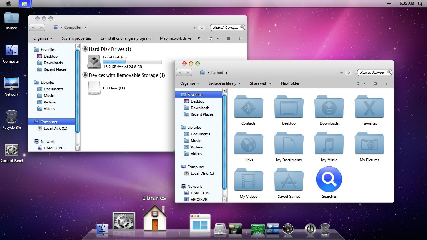 mac snow leopard skin pack 2.1 for windows 7