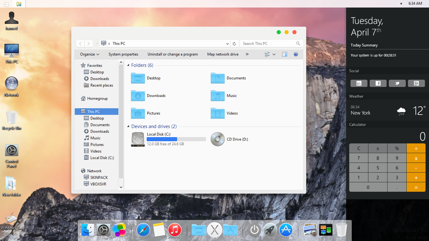 Il tema di Mac OS X Lion su Windows XP