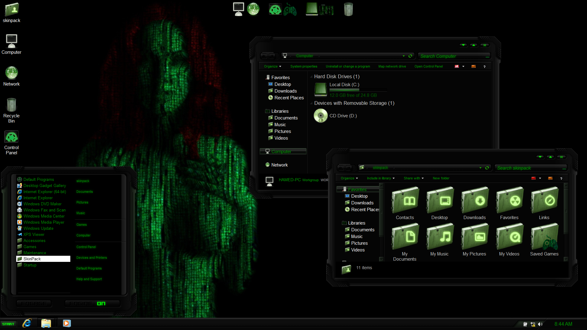Matrix SkinPack for Win10/8 1/7 - SkinPack - Customize Your