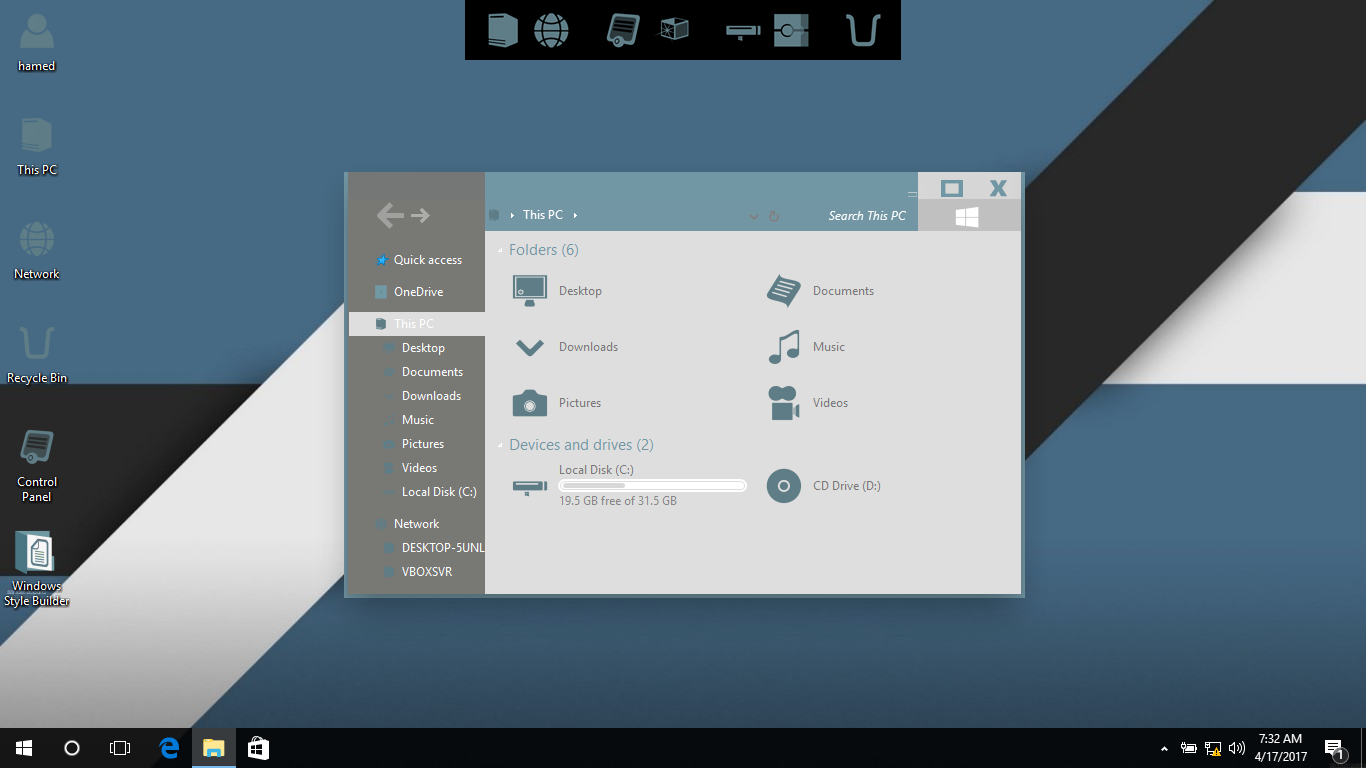 Arc Neutral Brown IconPack for Win7/8/8.1/10