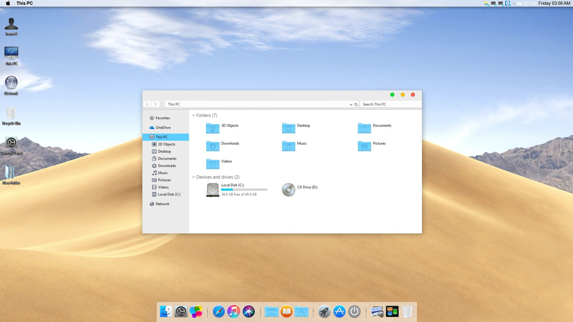 macOS Mojave Skin Pack for Windows 7\8.1\10