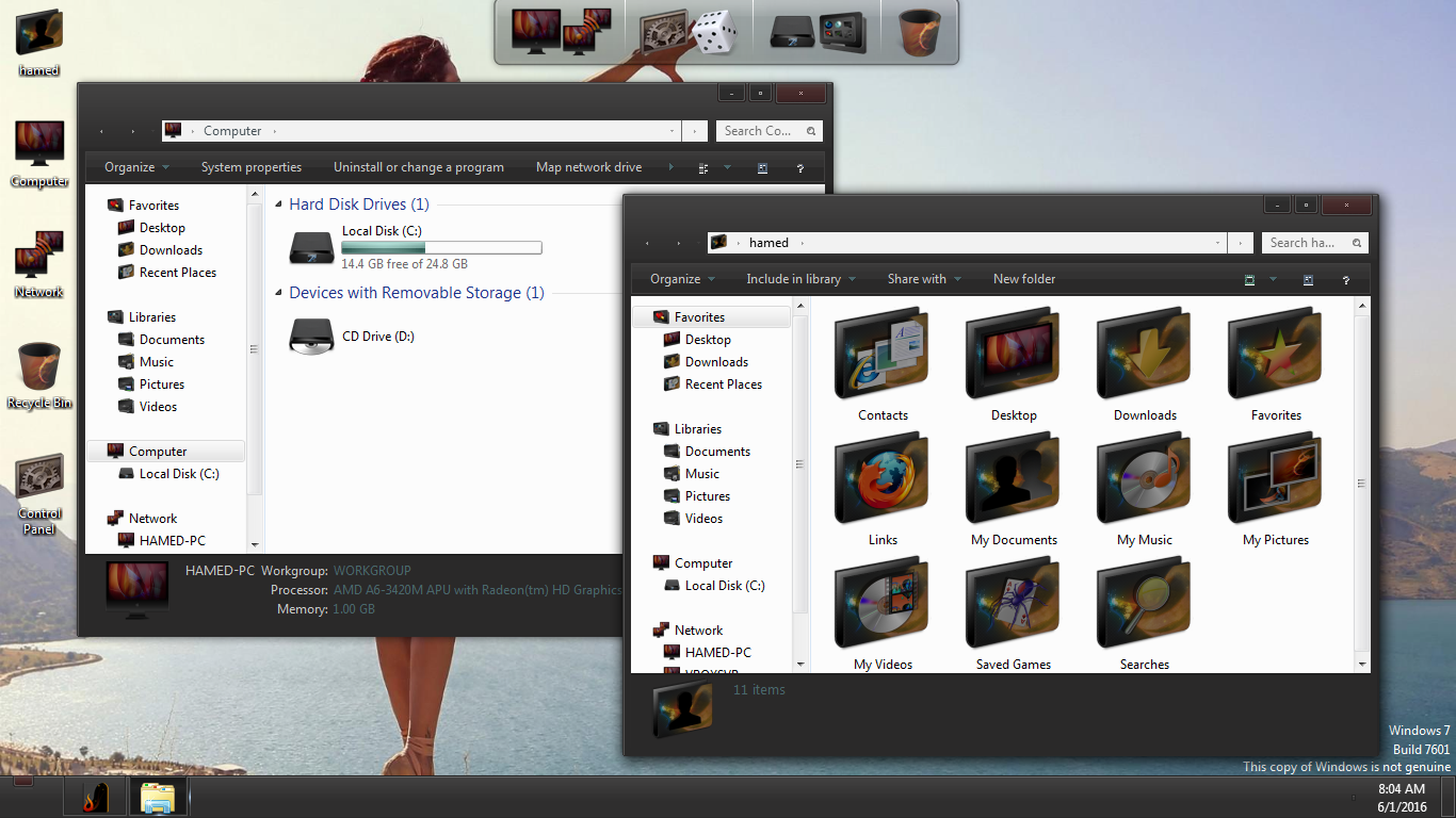 Luto SkinPack for Win7