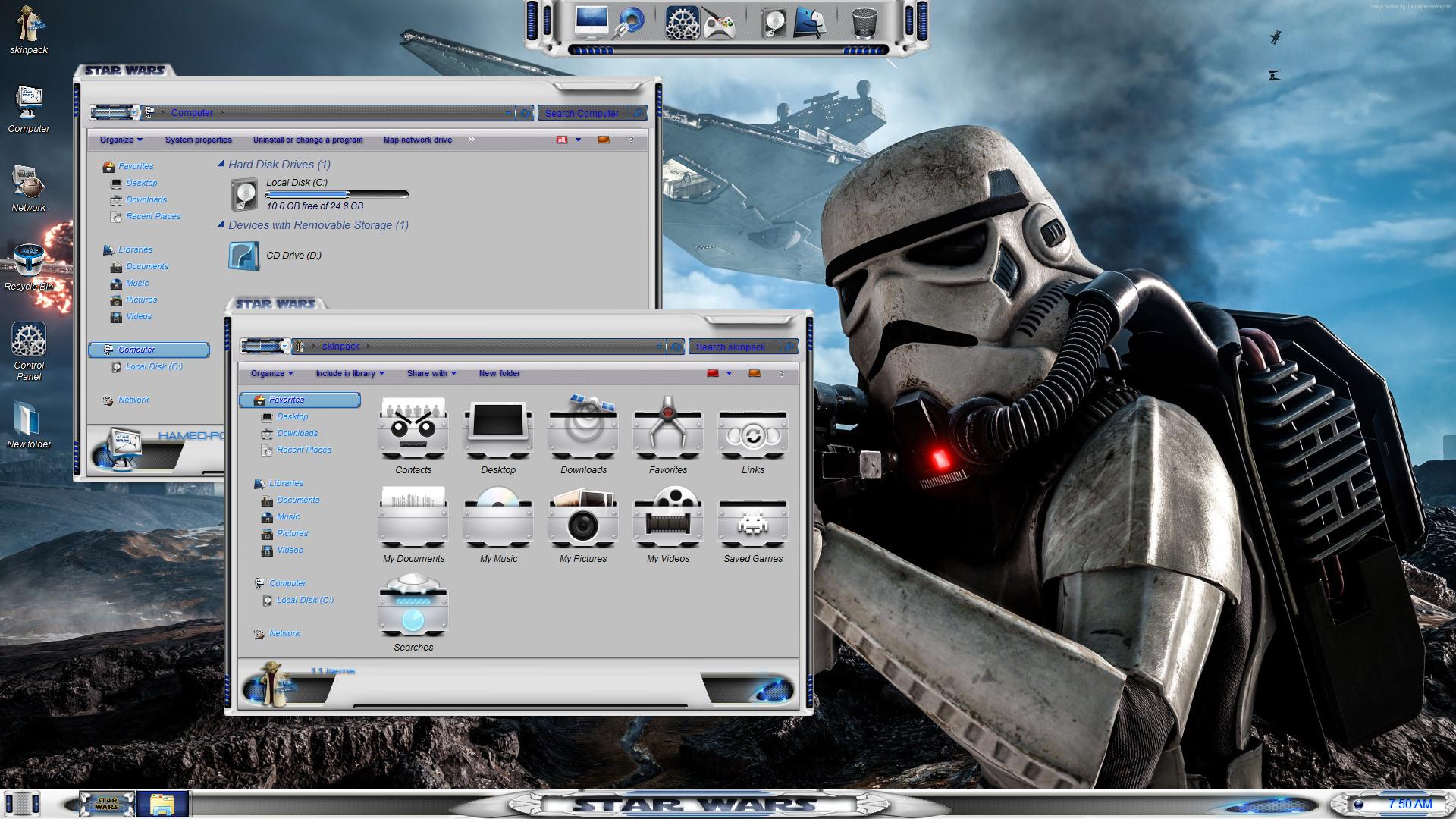 Star Wars SkinPack for Windows 7