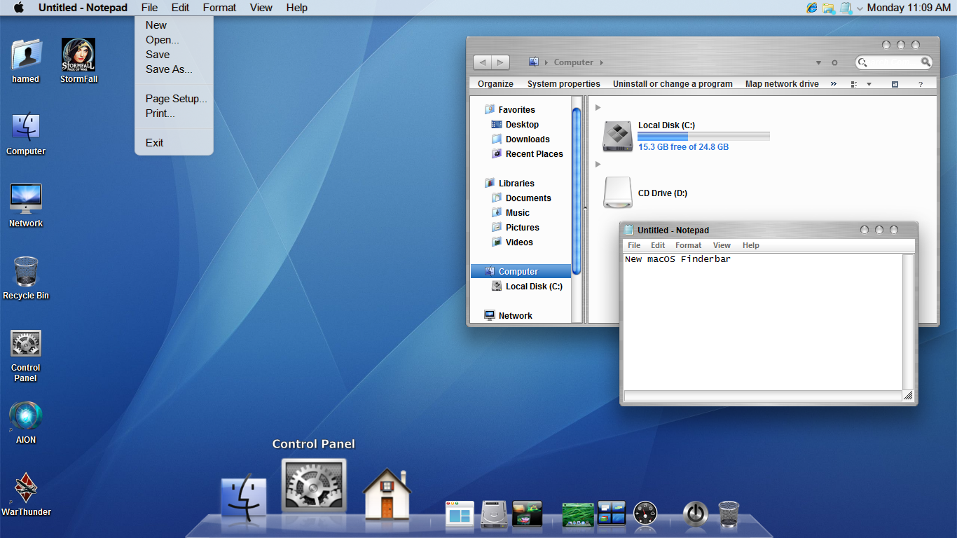 Mac OSX Tiger SkinPack for Win7 updated - SkinPack - Customize Your