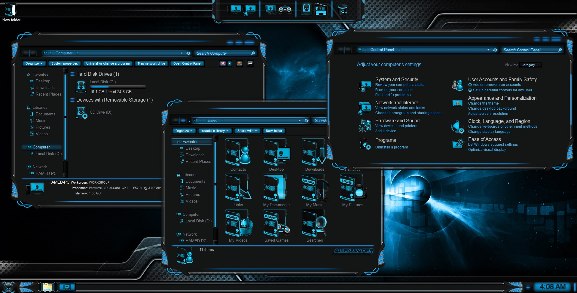 Alienware skin pack 3. 0 for win7/8/8. 1 released skinpack.
