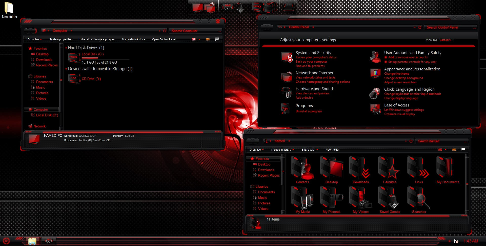 Alienware evolution skinpack for win7/8/8. 1 released skinpack.